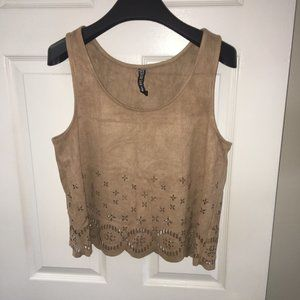 Design Lab Faux Suede Tank Top